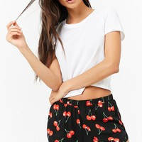 Cherry Print PJ Shorts