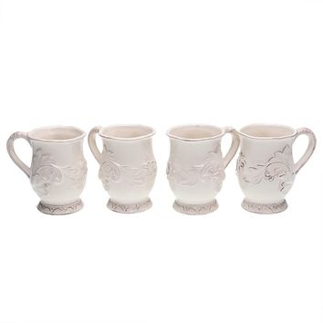 Certified International Firenze Ivory 4-pc. Mug Set (Beige/Khaki)