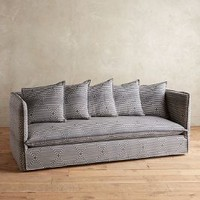 Striped Carlier Slipcover Sofa by Anthropologie in Charcoal Stripe Size: All Furniture
