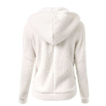 Women Warm Winter Thicken Fleece Coat Zip Up Hooded Slim Parka Jacket Overcoat Hoddies