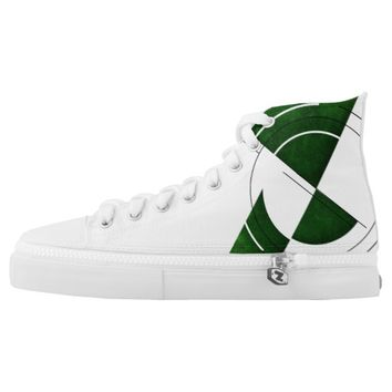 Scope View -High Tops (Green and White) High-Top Sneakers