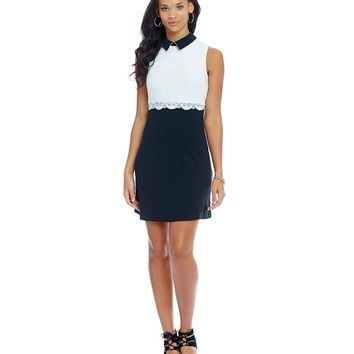 Jessica Simpson Collared Pop-Over Dress | Dillards