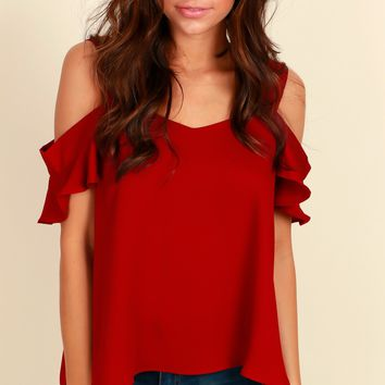 Time To Shimmy Blouse Burgundy