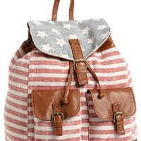 T-shirt & Jeans 'Americana' Canvas Backpack (Juniors)