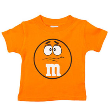 M&M's Candy Character Face T-Shirt - Toddler - Orange - 3T