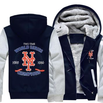 [50% OFF !!] EXCLUSIVE NEW YORK METS CHAMPIONSHIP HOODIE JACKET - FREE SHIPPING