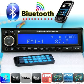 NEW 12V Bluetooth Car Radio Player Stereo FM MP3 Audio USB SD AUX Auto Electronics autoradio 1 DIN