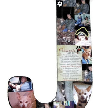 "18"" Letter Photo Collage or Number Collage Anniversary Engagement Birthday In Loving Memory Bridal Shower Best friend Gift Loss of Pet"