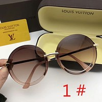 Louis Vuitton LV New fashion round polarized sunscreen couple glasses eyeglasses