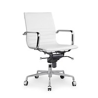Decade White Modern Classic Aluminum Office Chair