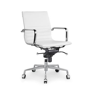 Decade White Modern Classic Aluminum Office Chair (Set of 2)
