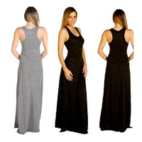 RACERBACK MAXI DRESS 5 COLORS S-3X RESORT 2013 SEXY KNIT WARDROBE MUST HAVE!