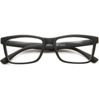 Dapper Indie Fashion Square Clear Lens Glasses 9451