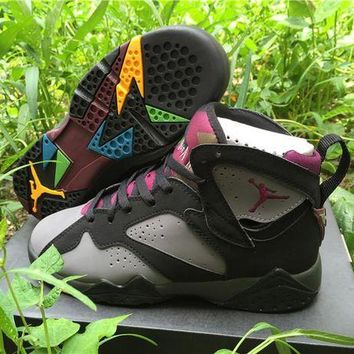 DCCKL8A Nike Air Jordan Retro 7 VII 'Bordeaux' Grade School Women Sports Basketball Shoes