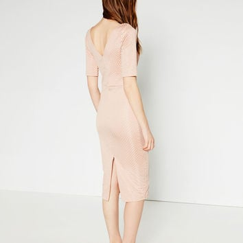 V-BACK SHEATH DRESS