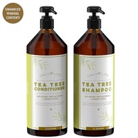 Organic Tea Tree Shampoo + Conditioner with Dead Sea Minerals