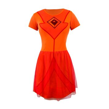 Welovefine:Flame Princess Fit 'n' Flare Tulle Dress