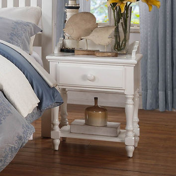 Homelegance Emmaline 1 Drawer Nightstand in White