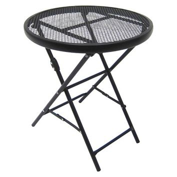 "Threshold™ 18"" Metal Mesh Folding Table"