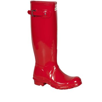 Hunter Pillar Red Original- High Gloss Rain Boot