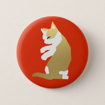 Fortune Cat (Chinese New Year) Pinback Button