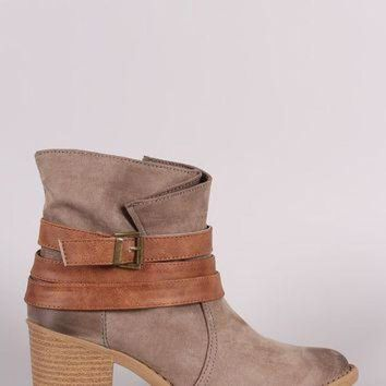 DCK7YE Qupid Wrapping Straps Western Boots