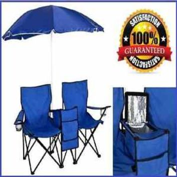 Beach Chair With Umbrella Folding Cup Holder Portable Seat Lightweight Picnic