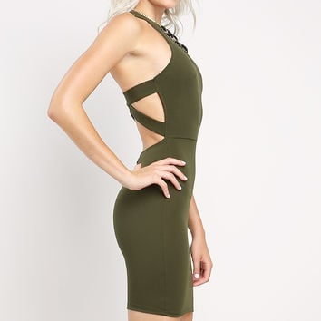 Back Cross Detail Short Dress