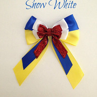 Disney inspired Snow White princess hair bow