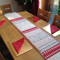 Scandi christmas, scandinavian table runner, Christmas table runner, table runner, xmas decorations, Christmas decorations, Christmas table