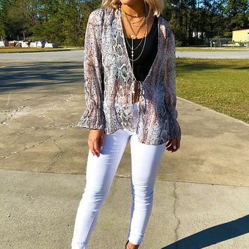 Wildest Dreams Blouse: Multi