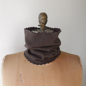 T Shirt Neck Warmer / Versatile Cowl / Chocolate Brown / Unisex / Winter / Snood / Recycled / Upcycled / Cotton / Soft / ohzie