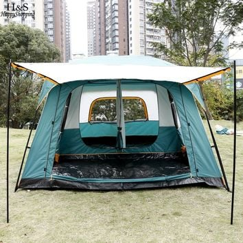 8-Person 2-Bedroom 1-Living Cabin Tent