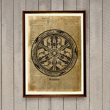 Tribal poster Rustic decor Native American print
