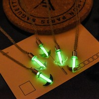 Anchor Shaped Glow in the Dark Luminous Necklace