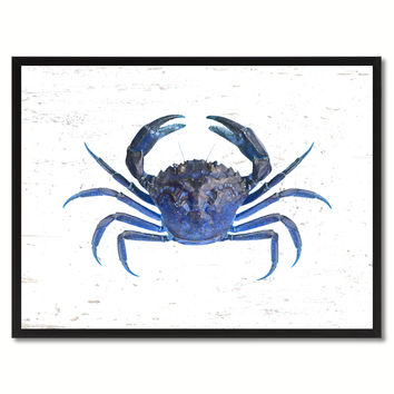 Blue Crab Painting Reproduction Home Decor Gifts Canvas Prints Picture Frame Wall Art