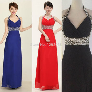 New fashion Customized Color & Size!Off shoulder Beading sequins evening dress long party dress prom dress Dinner dress