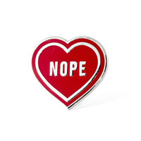 Nope Heart Lapel Pin