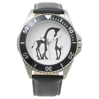 Africa Black Giraffe father & kid Watch for Men