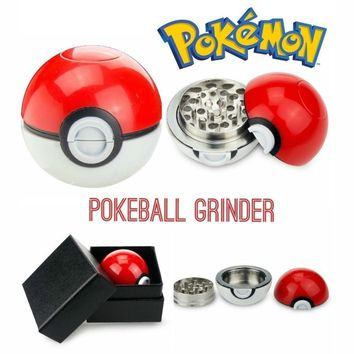 Pokeball Pokemon Herb Weed Grinder Mill Pipe Tobacco Smoking Utensils Smoke Detectors Pipes Grinding Smoke Narguile Smoke