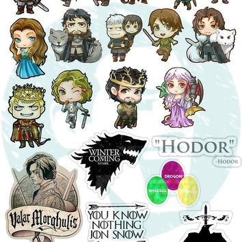 Set #234. Game of Thrones. Kiss-cut. Tumblr Stickers. Stickers. Set of stickers. Decals