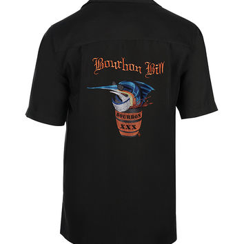 Men's Bourbon Bill Embroidered Fishing Shirt