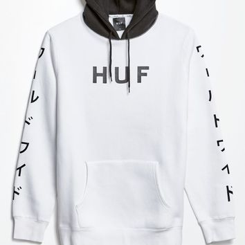 HUF White Pack World Pullover Hoodie - Mens Hoodie - White