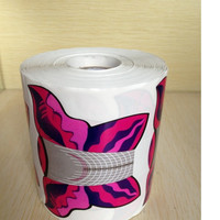XXL Big Size  500pcs in 1 Roll Butterfly-shape Self Adhesive Gel Nail Extension Nail Forms for Acrylic Nails Tips-Purple