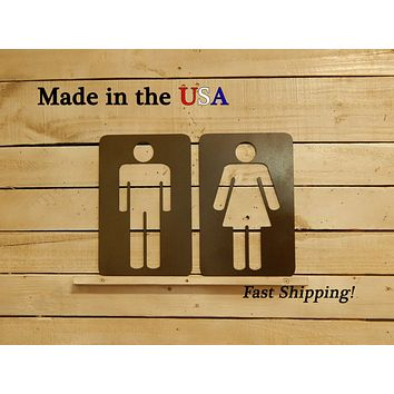 Restroom Signs, Set of 2