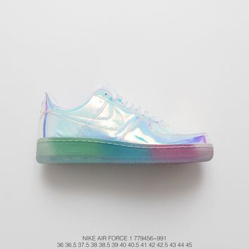 [ Free Shipping ]Nike Air Force 1 ID Iridescent¡± Sneaker