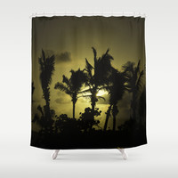 Sunset in Tropics Shower Curtain by Zina Zinchik