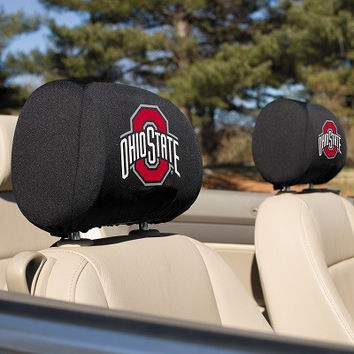 Ohio State Buckeyes Headrest Covers Set Of 2