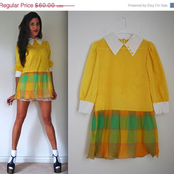 20% off SALE Vintage 60s 70s Arlene Airess Mod Mini Dress (size xs, small)