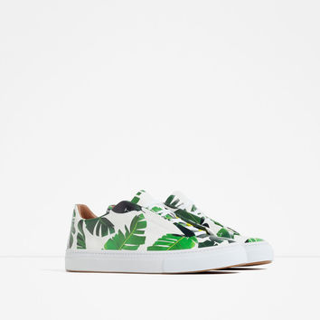PALM TREE PRINT SNEAKERS